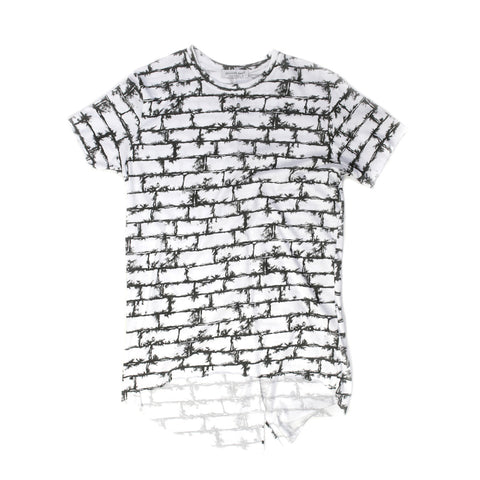 Brick Pattern T-shirt for Men - 1389Y - NYC Fashion Guru