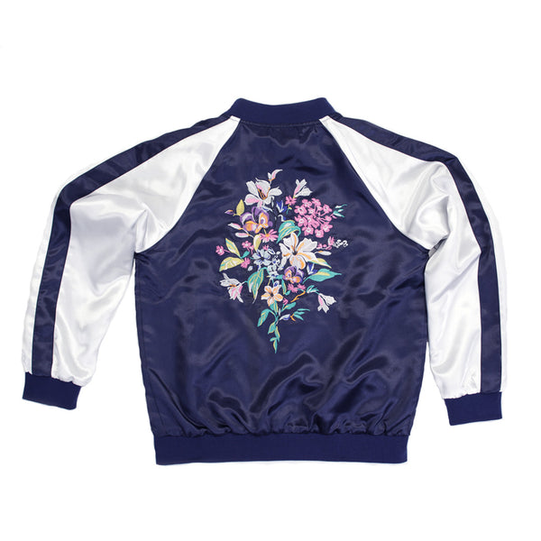 Embroidered Floral Bomber Jacket