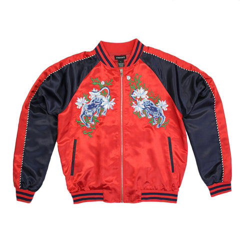 Syndicate Embroidered Wild Cat Bomber Jacket - 168118 - NYC Fashion Guru