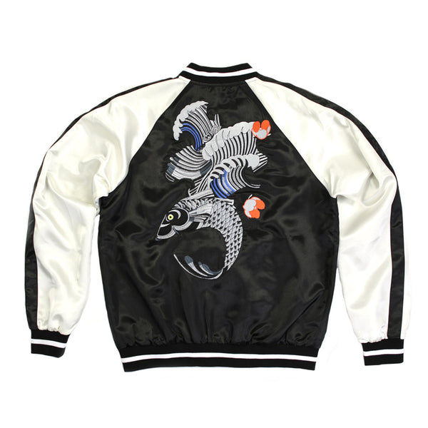 Syndicate Embroidered Fish Back Bomber Jacket - 168106 - NYC Fashion Guru