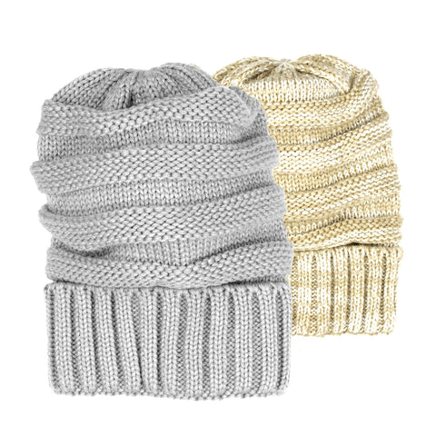 Exclusive Knitted Beanie Hat - H701-P - NYC Fashion Guru