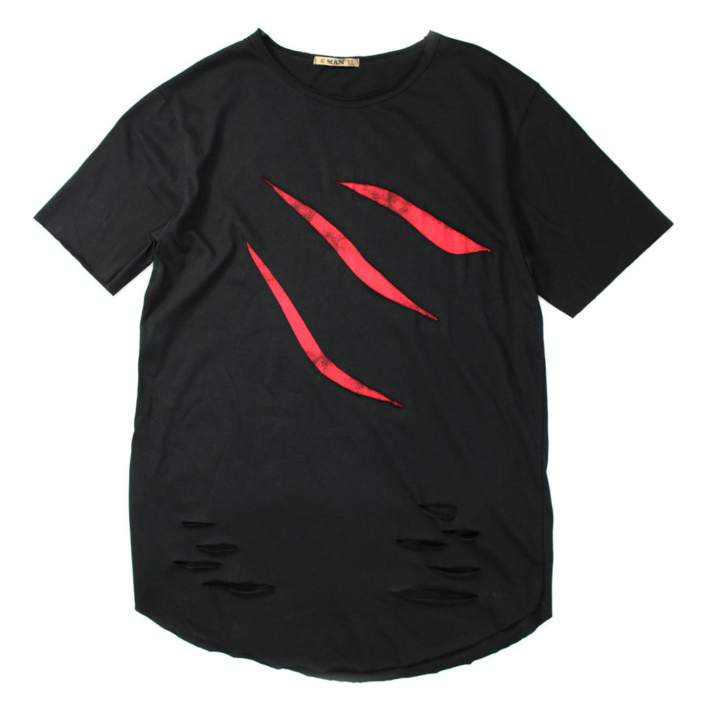 Look Edgy with Ripped T-shirt