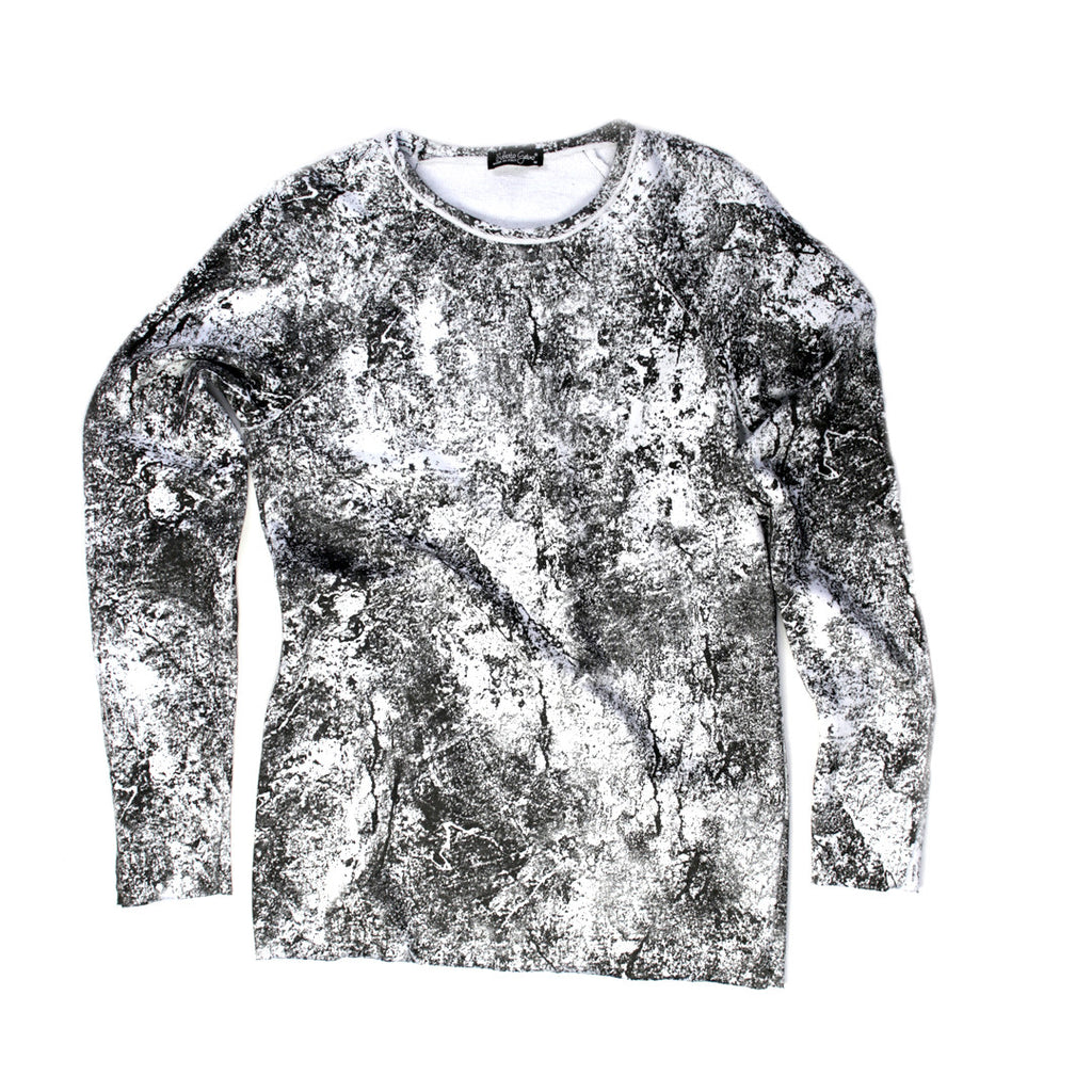 Stone Washed French Terry Sweater for Men