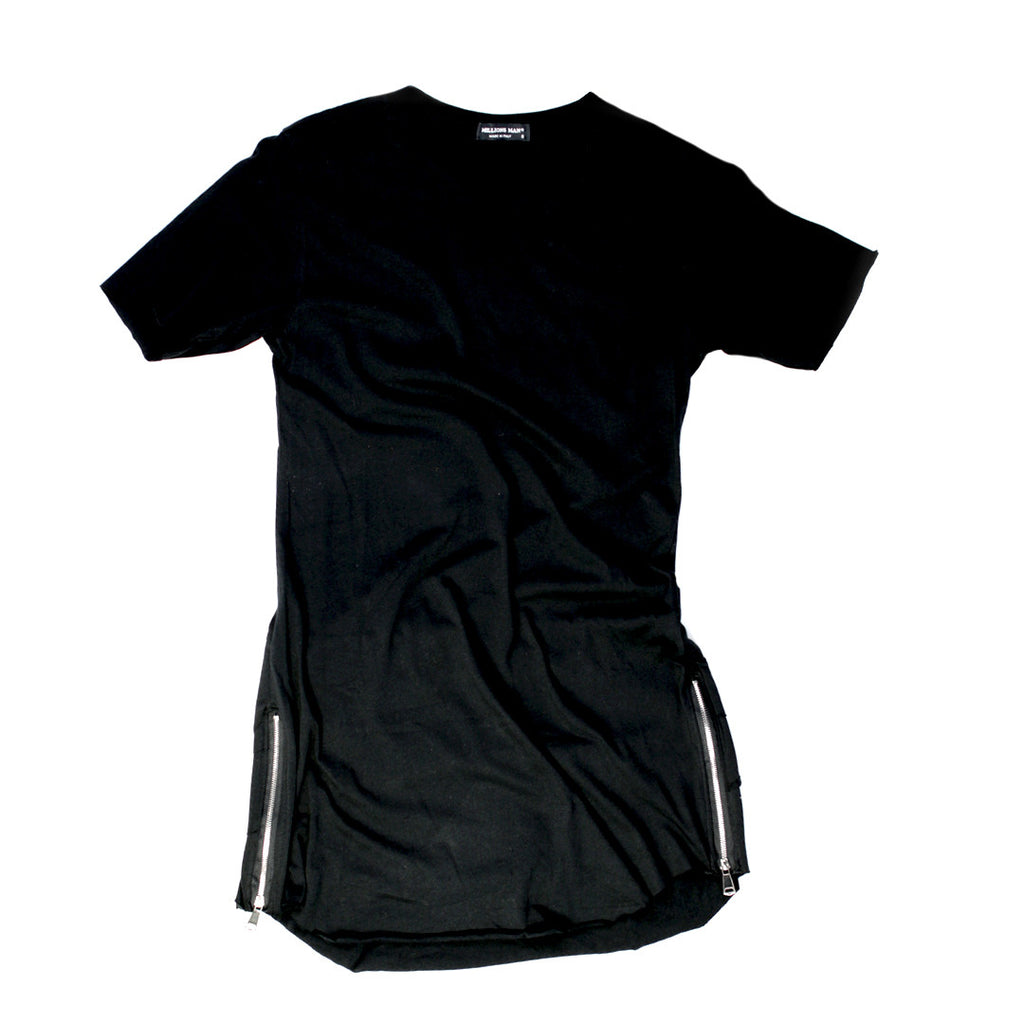 Side Zips and Layered Back T-shirt for Men