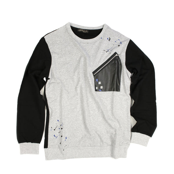 French Terry Crew Neck T-shirt for Men