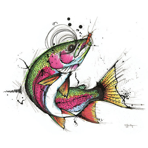 Lone Rainbow Trout (Print) - Dead Weight Fly