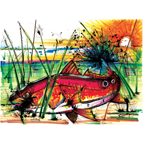 Red Dawn (Print) - Dead Weight Fly