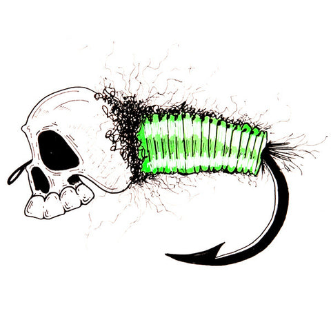 The Green Caddis (Print) - Dead Weight Fly