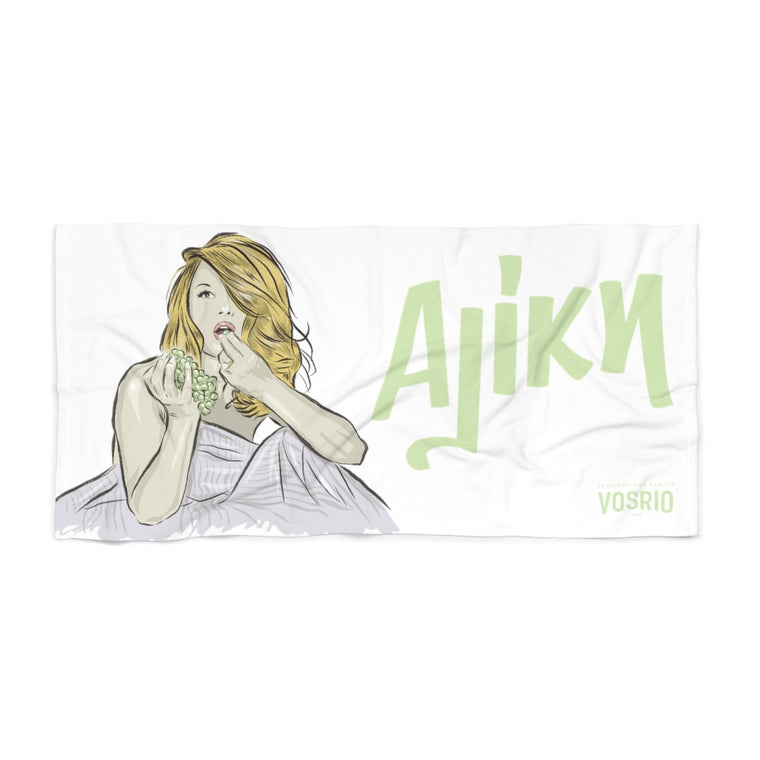 Aliki White Beach Towel