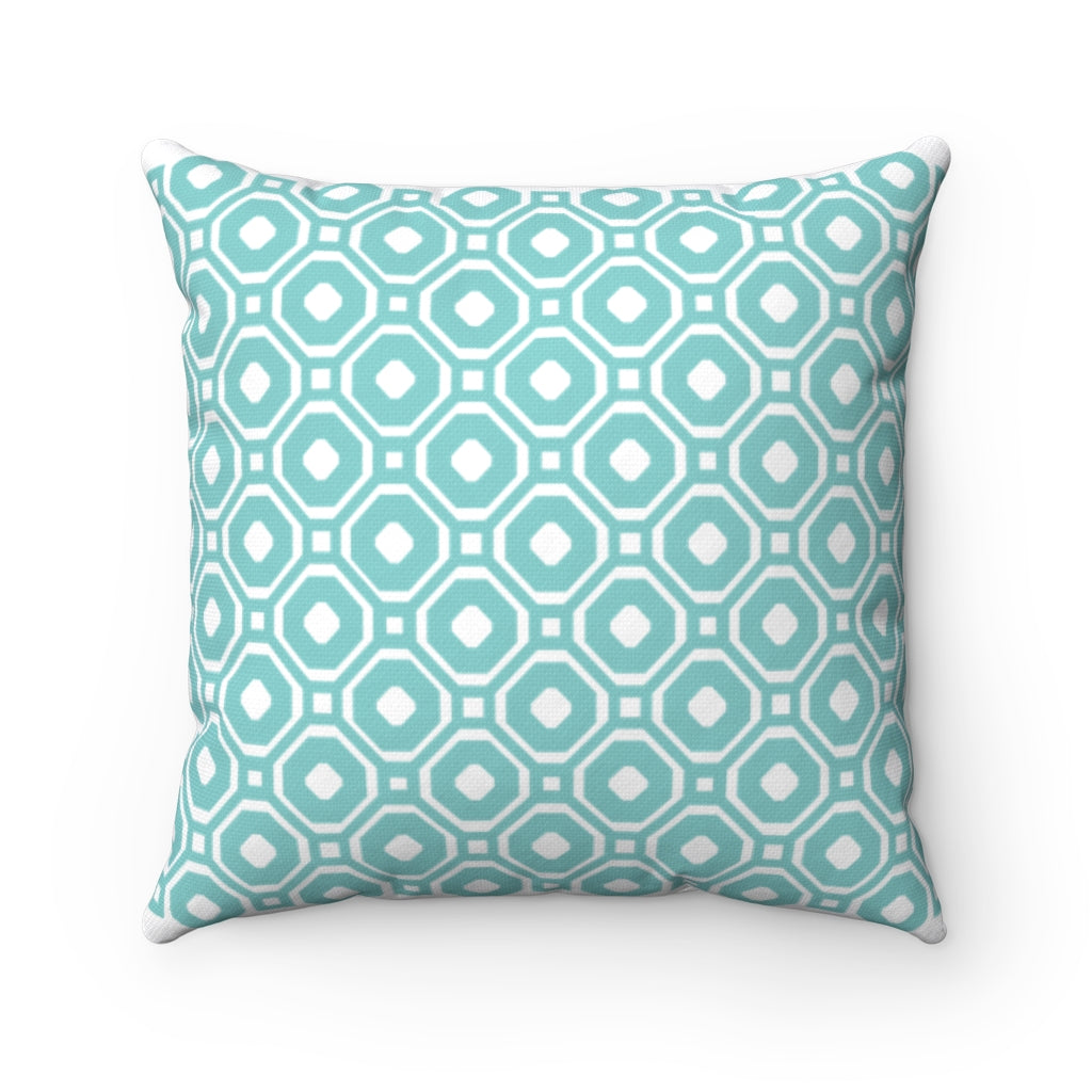 Yiayia's Style Kentima Turquoise Square Pillow