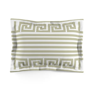 In Theory Olive Microfiber Pillow Sham