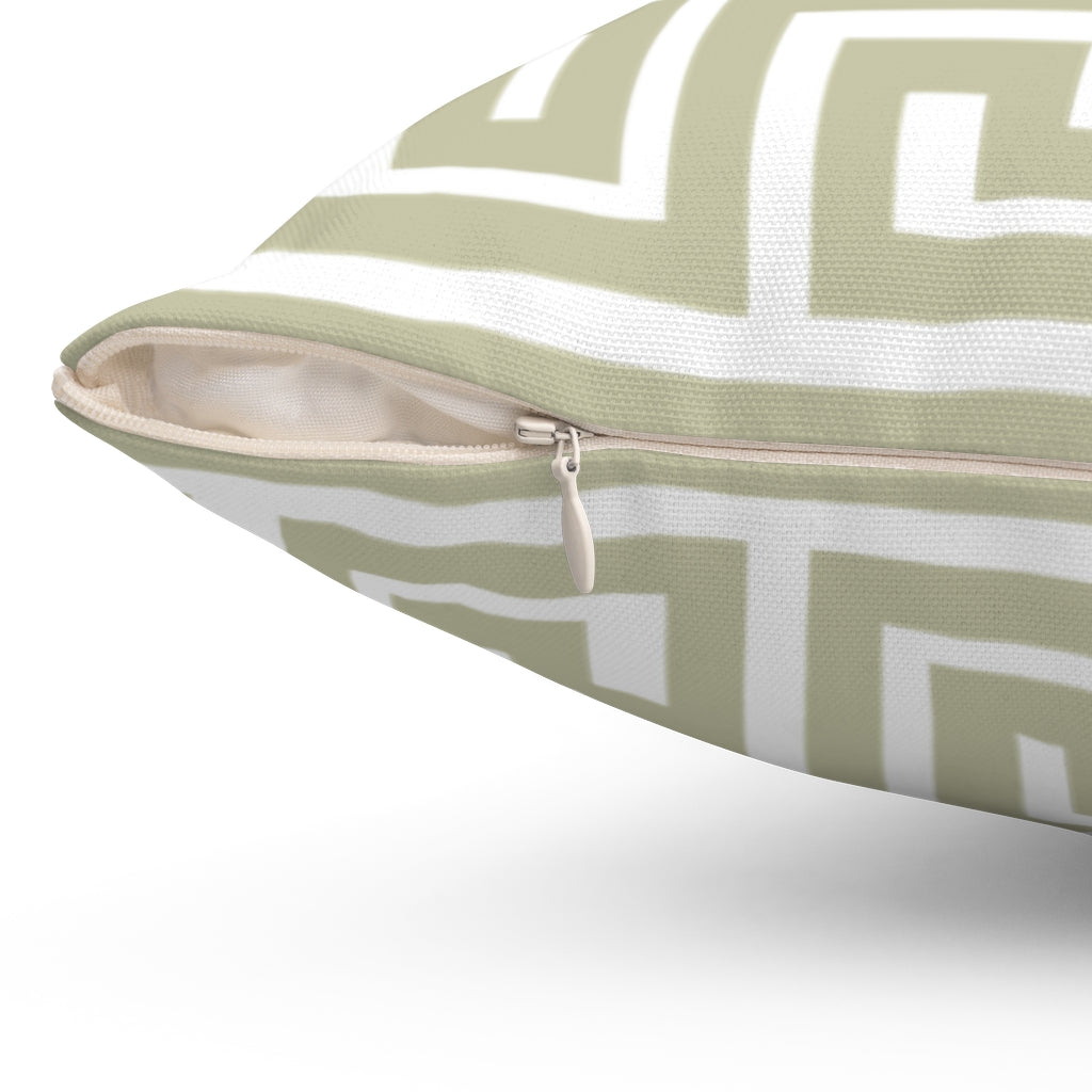 In Theory Olive Square Pillow
