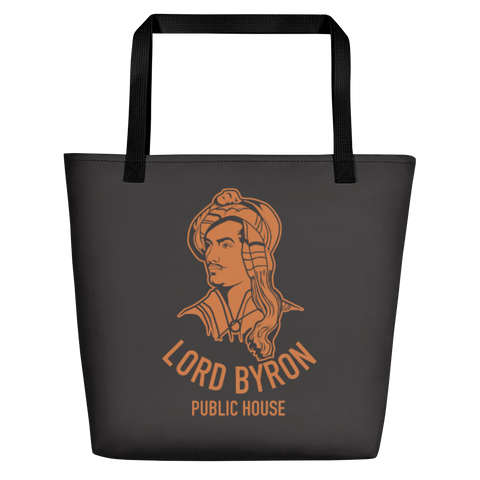 Lord Byron Orange And The Old  Black Tote Bag