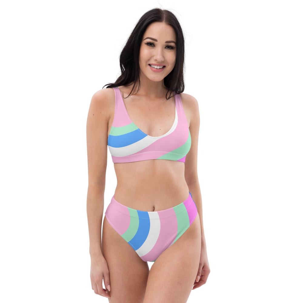 Eye Candy Recycled high-waisted bikini