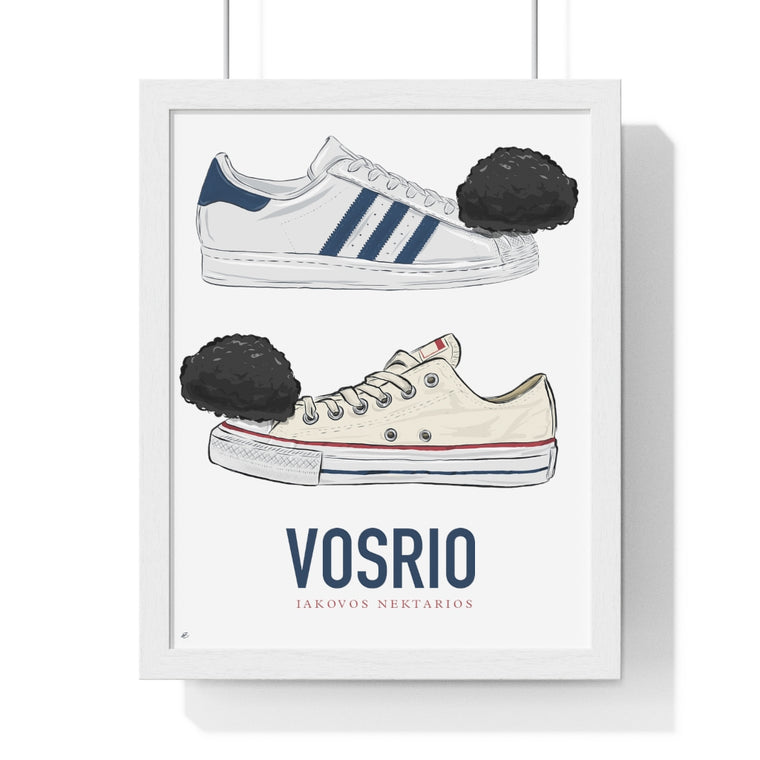 Adidas vs. Converse Premium Framed Vertical Poster