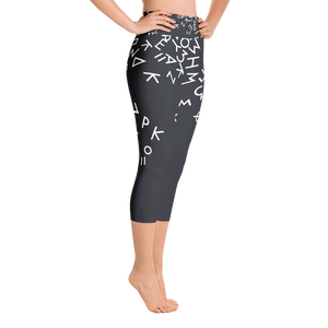 Fallen Words Yoga Capri Leggings
