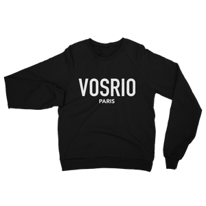VOSRIO Paris Logo Black raglan sweater