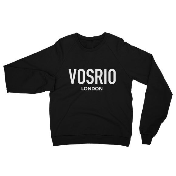 VOSRIO London Logo Black raglan sweater