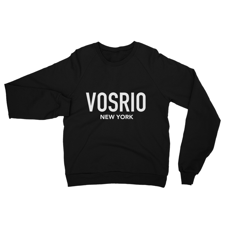 VOSRIO New York Logo Black raglan sweater