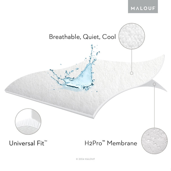 Prime Terry Cloth Mattress Protector-Protectors-Malouf-New Braunfels Mattress Company