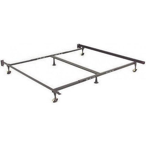 Heavy Duty Insta-Lock Queen/King/Cal King Metal Bed Frame with Rollers-Frame-Mantua-Twin/Twin XL/Full Size-New Braunfels Mattress Company
