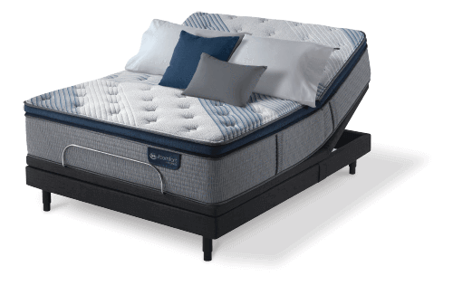 Serta iComfort Hybrid Blue Fusion 300 Plush Pillow Top Closeout-Mattress-Serta-New Braunfels Mattress Company