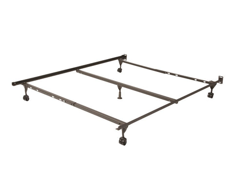 Heavy Duty Insta-Lock Full/Queen Metal Bed Frame-Frame-Mantua-New Braunfels Mattress Company