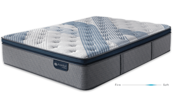 Serta iComfort Hybrid Blue Fusion 1000 Plush Pillow Top Closeout-Mattress-Serta-New Braunfels Mattress Company
