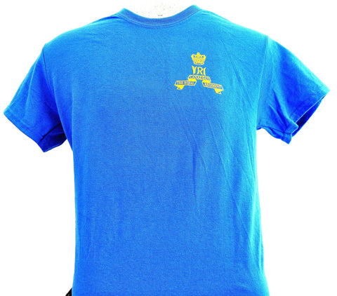 REGIMENTAL SHORT SLEEVE PT SHIRT BLUE/REGIMENTAL COURTES PT SHIRT BLEU