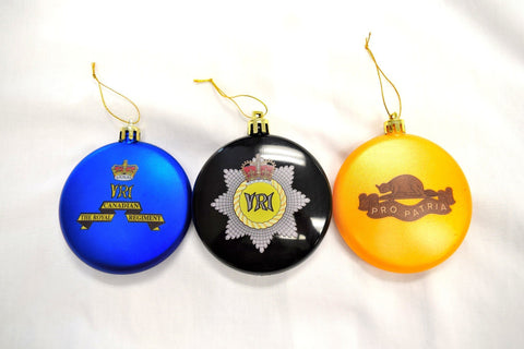 3 Pack Of The ROYAL CANADIAN REGIMENT Christmas Ornaments