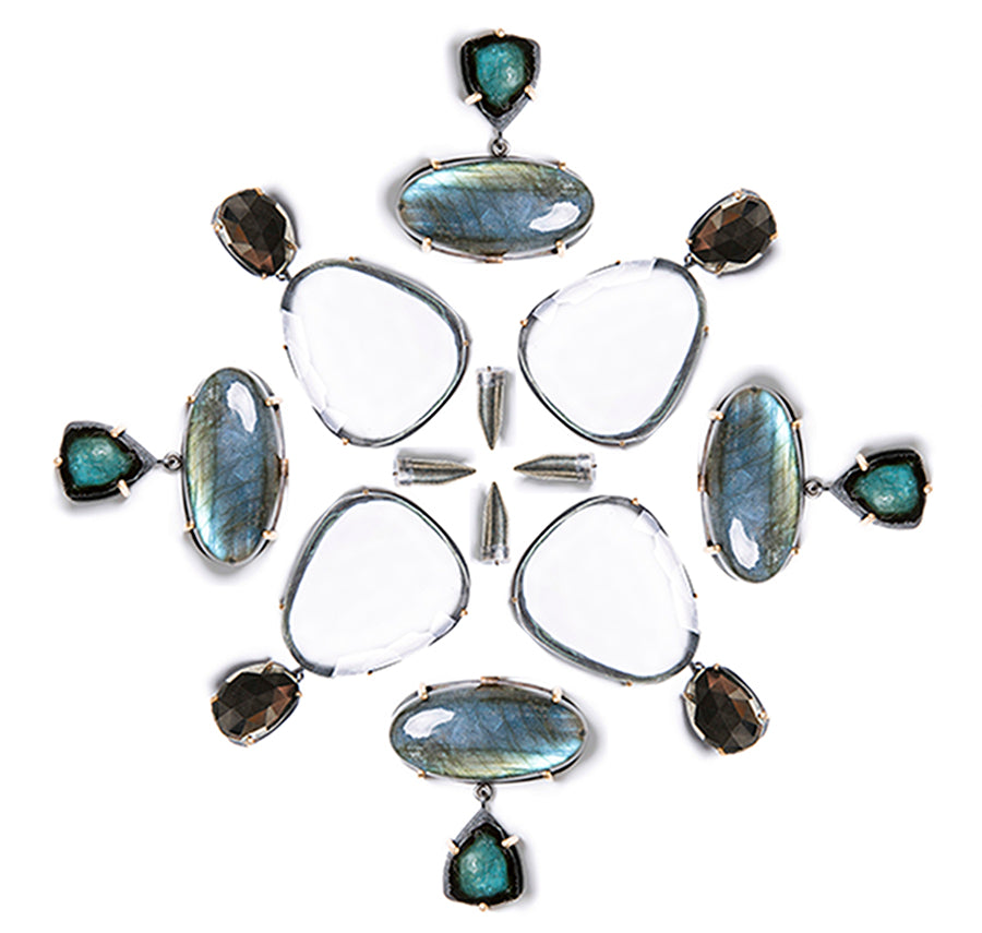 New fall/winter line at Slant Fine Jewelry with labradorite and tourmaline!
