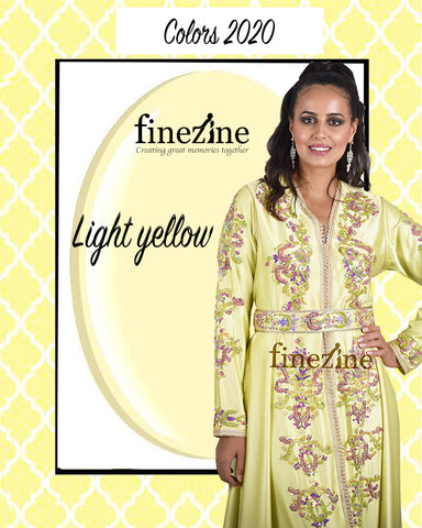 kaftan dress yellow