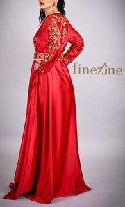Paris - Robe Caftan Rouge
