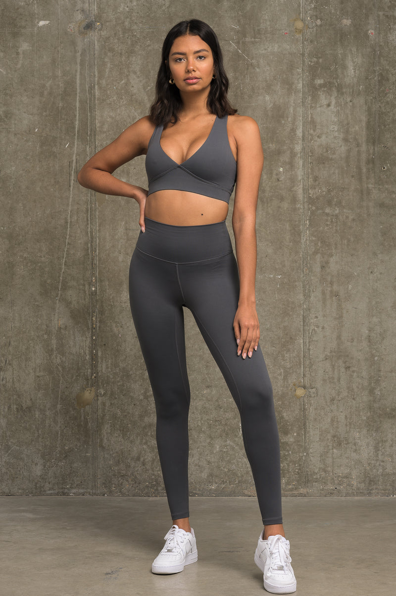 Luxe Crossover Bra - Steel Grey