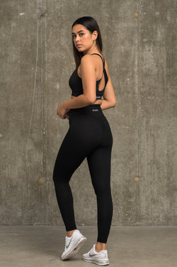 Luxe Scrunch Leggings - Jet Black
