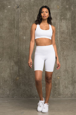 Luxe Crop Bra - White
