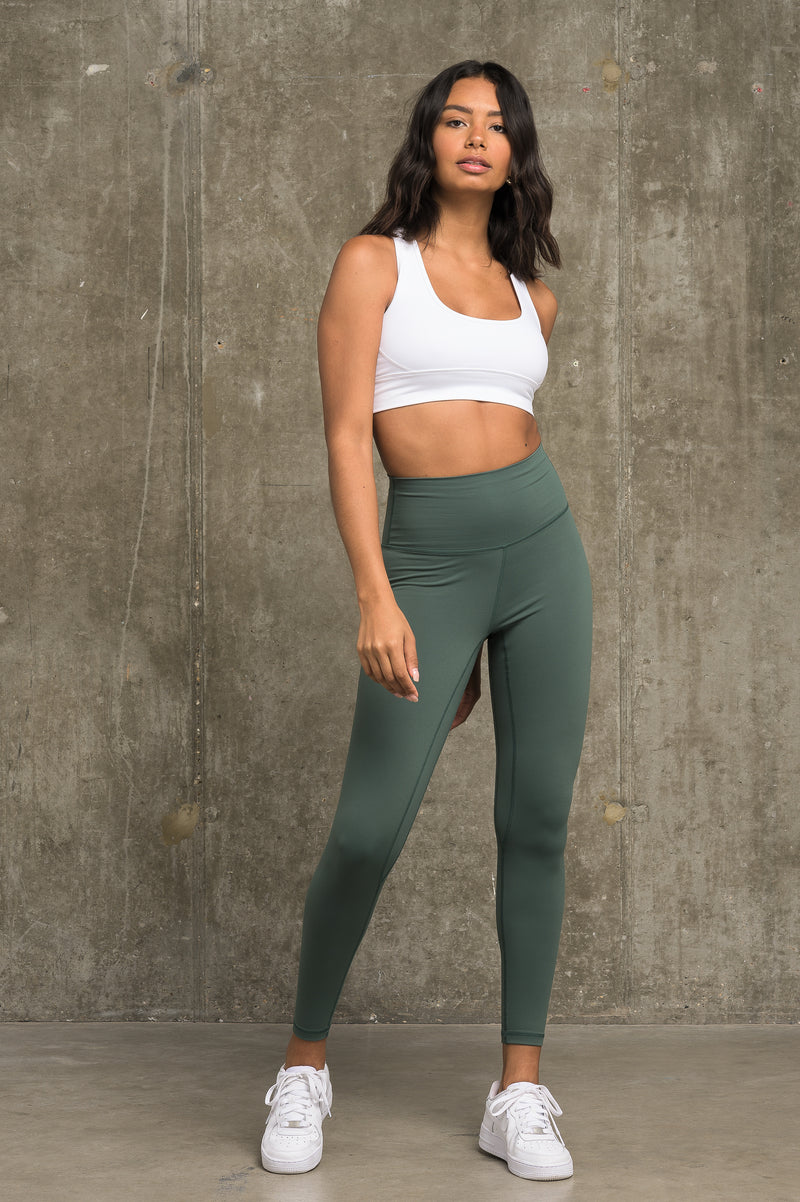 Luxe Leggings - Sage Green (FLEXXFIT LOGO)