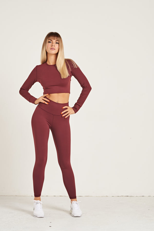 Crop Long Sleeve - Burgundy
