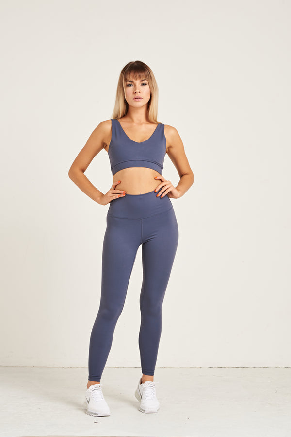 Luxe Leggings - Steel Blue