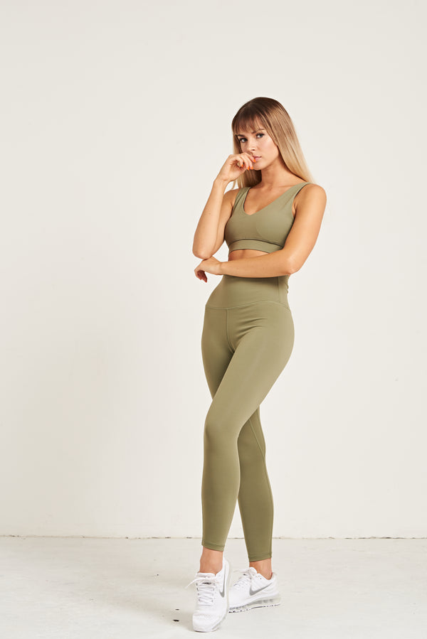 Luxe Scoop Back Bra - Khaki Dream