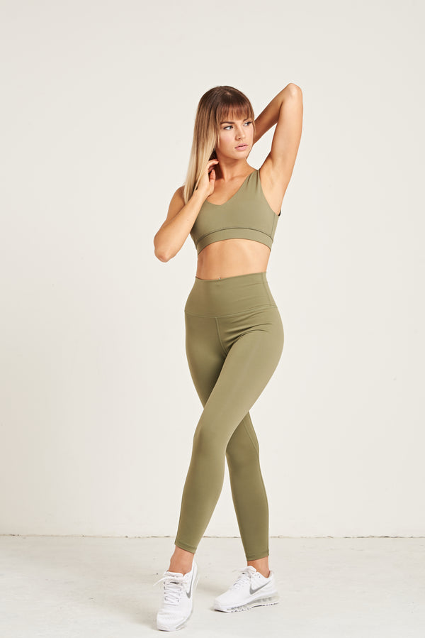 Luxe Leggings - Khaki Dream