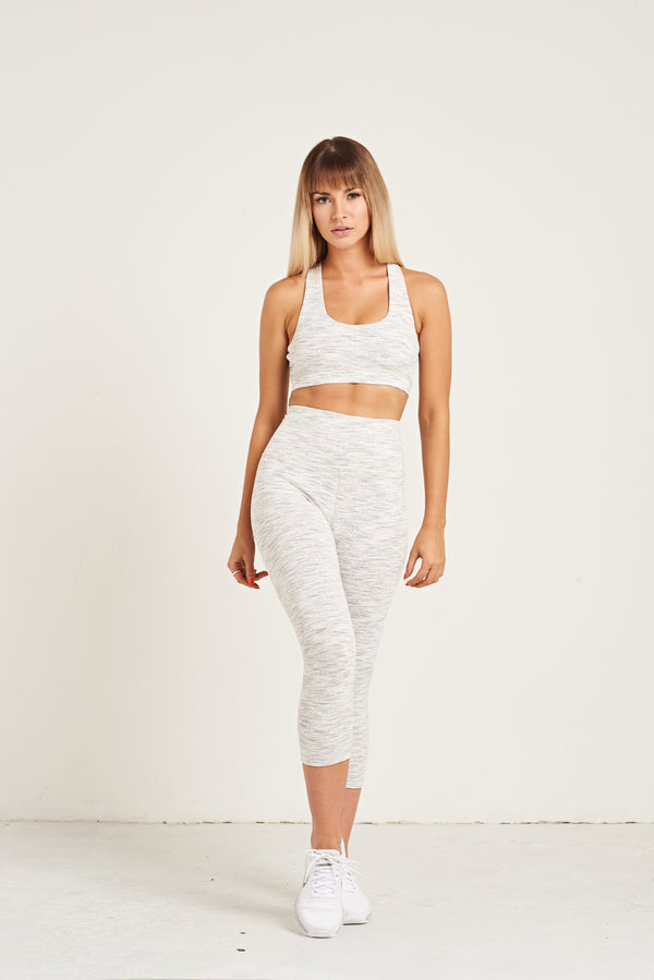 Luxe Crop Leggings 18 Inches - All White Everything