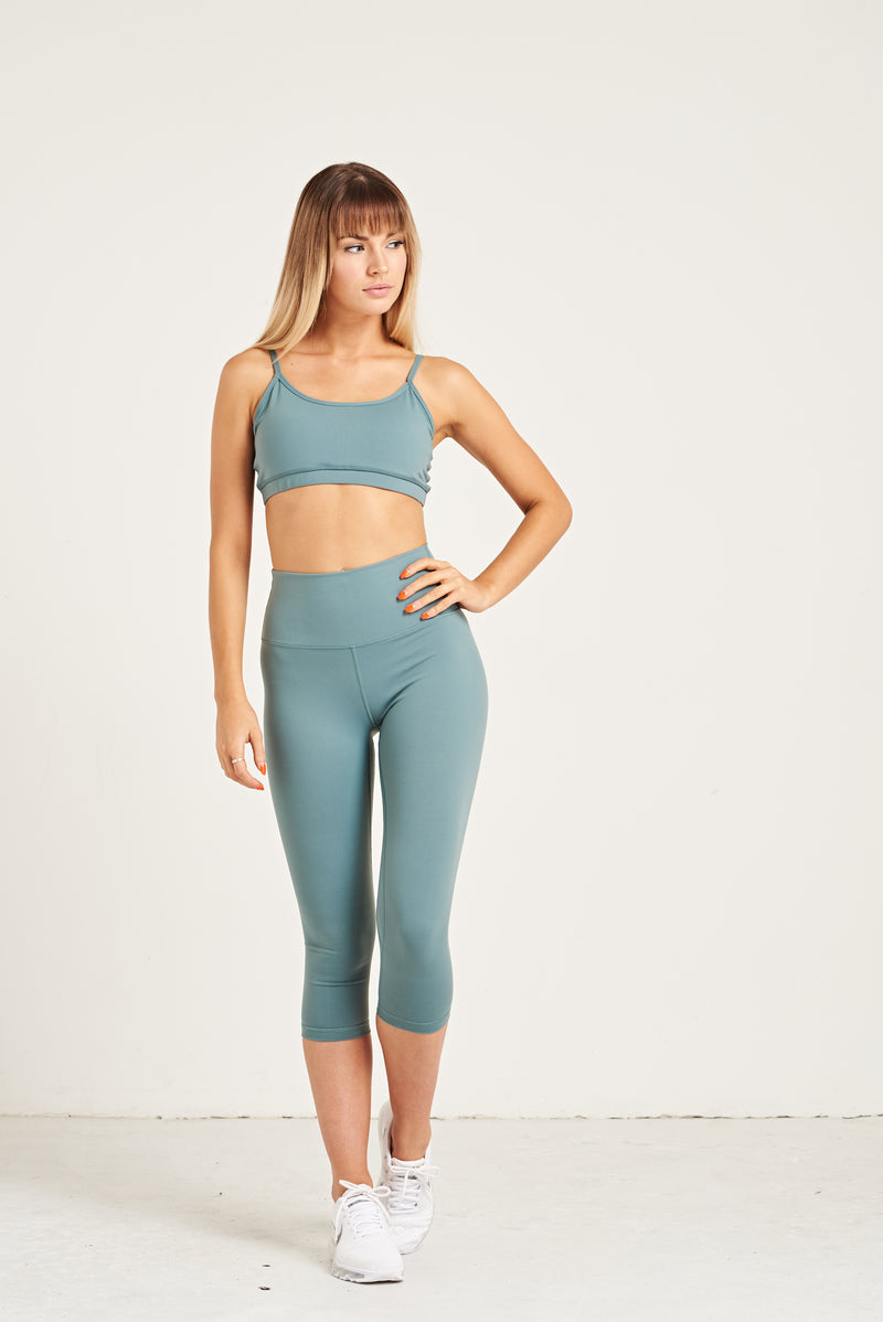 Luxe Crop Leggings 18 Inches - Seafoam