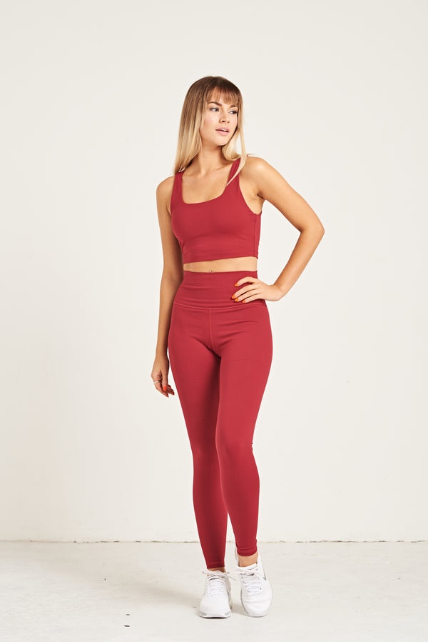 Luxe Crop Top Bra - Cranberry