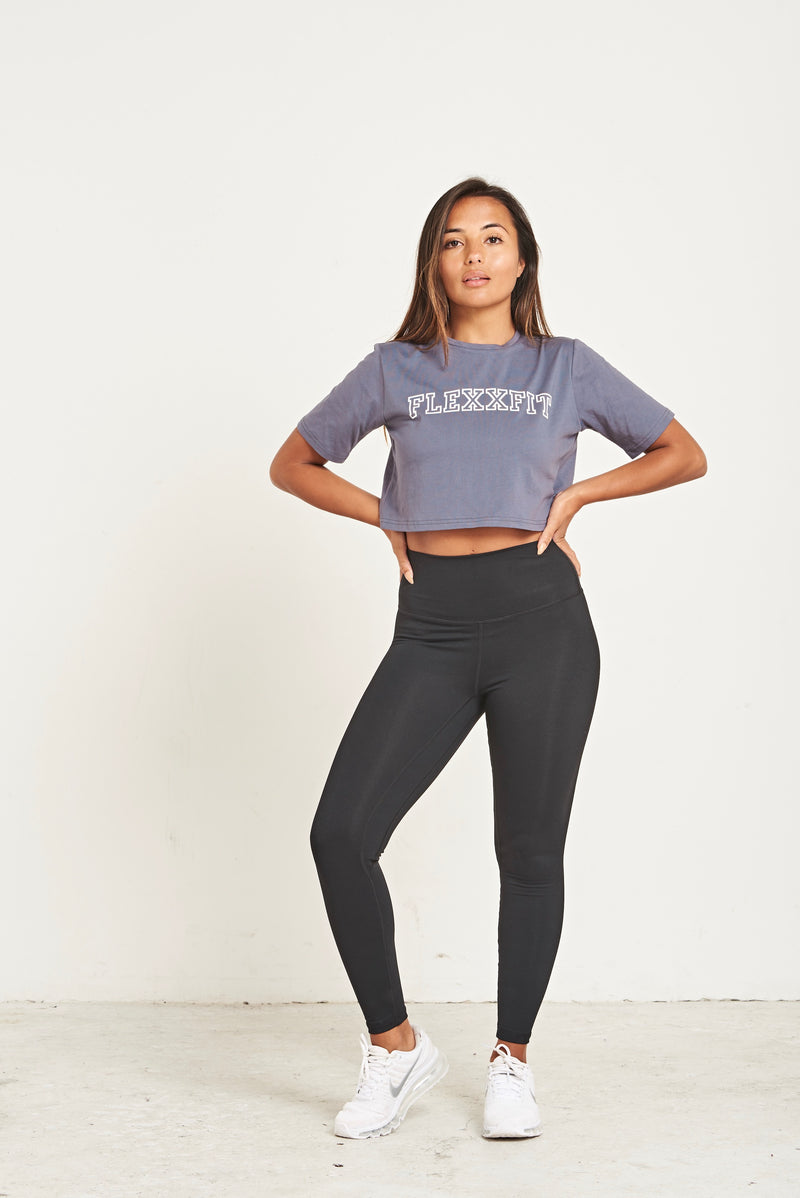 Crop T-Shirt - Dark Grey