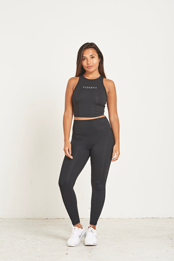 Crop Tie Back - Black