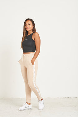 Luxe Tape Sweatpants - Desert Sand