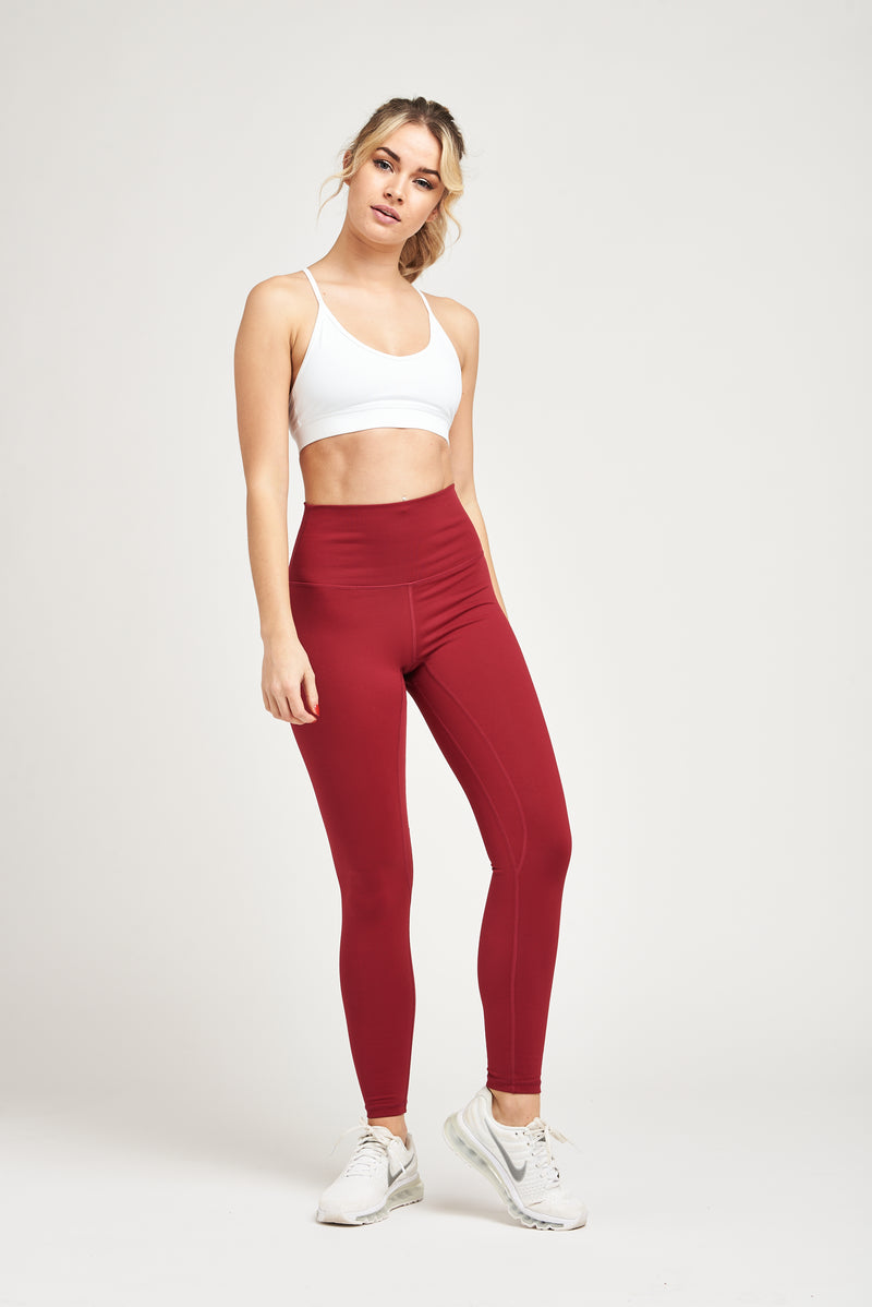 Luxe Leggings - Cranberry