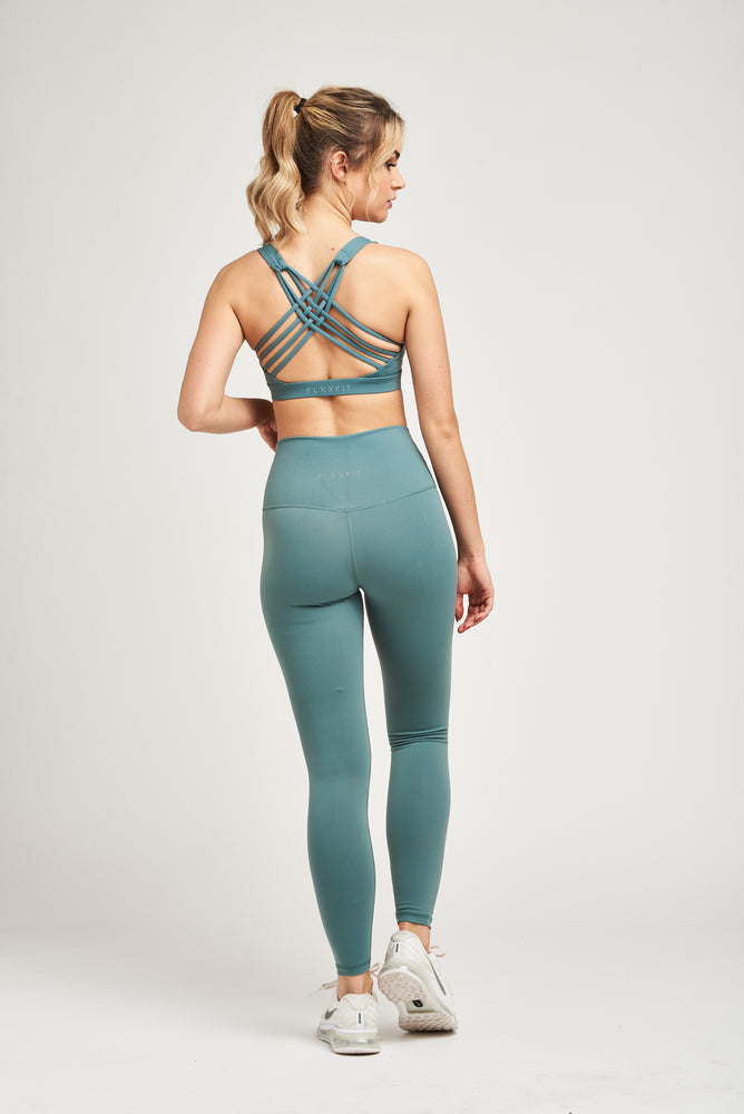 Load image into Gallery viewer, Luxe Strappy Bra - Seafoam