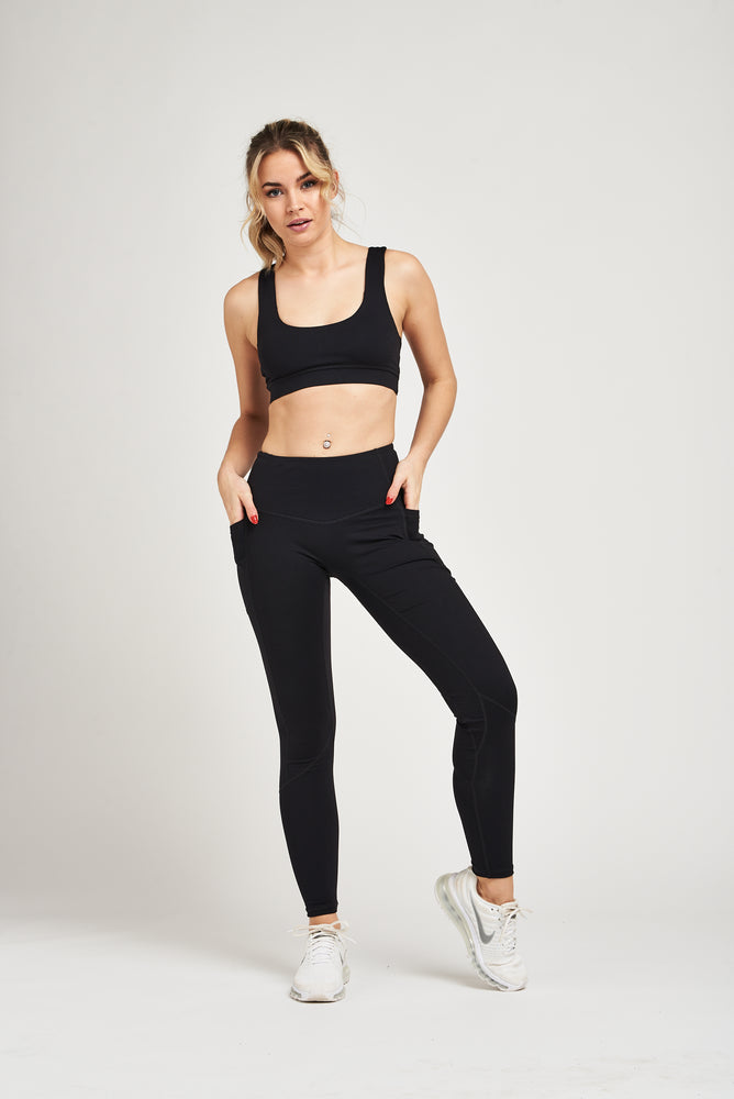 Luxe Heart Contour Leggings - Jet Black